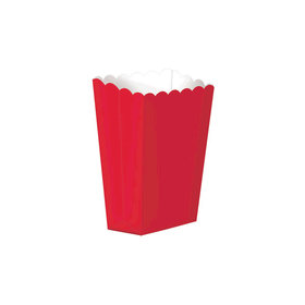 Small Paper Popcorn Boxes Red (5 Pack)