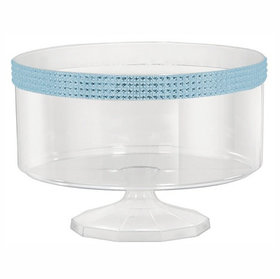 Medium Plastic 70oz Trifle Container with Blue Gems
