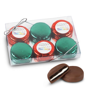 Personalized Add Your Logo' 6Pk Chocolate Covered Oreo Cookies