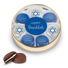 Happy Hanukkah Large Tin in Silver or Gold