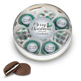 Personalized Merry Christmas Large Tin in Silver or Gold