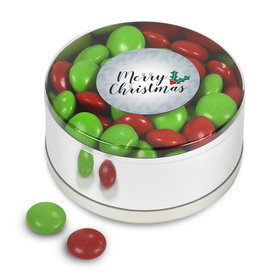 Merry Christmas Chocolate Minis Small Plastic Tin