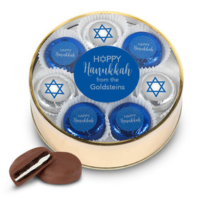 Personalized Happy Hanukkah Extra Large Tin in Silver or Gold