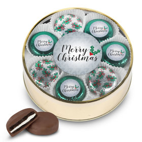 Merry Christmas Extra Large Oreo Tin in Silver or Gold