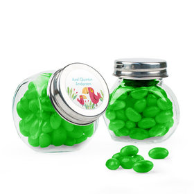 Personalized Boy Birth Announcement Favor Assembled Mini Side Jar Filled with Just Candy Jelly Beans