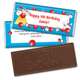 Birthday Bowling Embossed Happy Birthday Bar