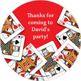 "Casino Party Personalized 2"" Stickers (20 Stickers)"