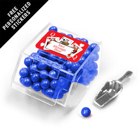 Casino Party Personalized Candy Bin Dispenser with Scoop 12 Pack