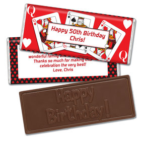 Birthday Playing Cards Embossed Happy Birthday Bar
