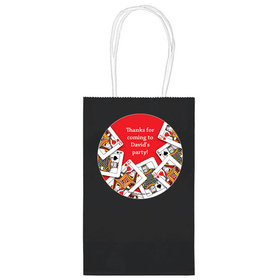 """Casino Party Personalized 5"""" Handle Bags (24 pack)"""