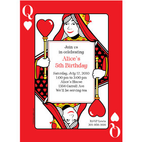 Casino Party Personalized Invitation