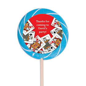 "Casino Party Personalized 3"" Lollipops (12 Pack)"