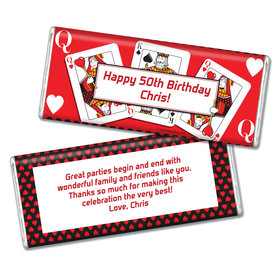 Birthday Playing Cards Personalized Chocolate Bar & Wrapper