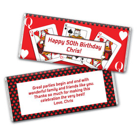 Birthday Playing Cards Personalized Hershey's Chocolate Bar Wrappers