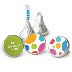 Birthday Polka Dot Party Personalized Assembled Kisses (50 Pack)