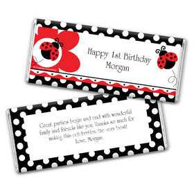 Birthday Lady Bug Personalized Hershey's Chocolate Bar Wrappers