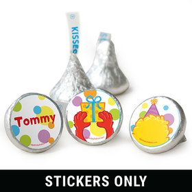 "Birthday 3/4"" Sticker Sesame Street Themed Personalized Stickers (108 Stickers)"