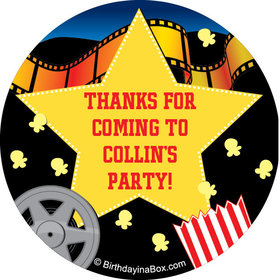 "Movie Party Personalized 2"" Stickers (20 Stickers)"