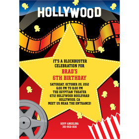 Movie Party Personalized Invitation