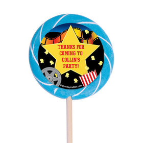 "Movie Party Personalized 3"" Lollipops (12 Pack)"