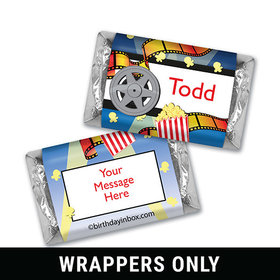 Movie Night Personalized Miniature Wrappers