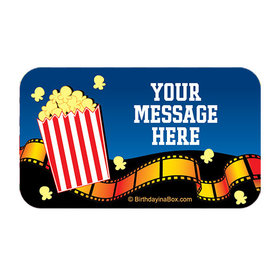 Movie Party Personalized Rectangular Stickers (18 Stickers)