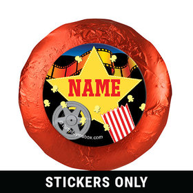 "Movie Party Personalized 1.25"" Stickers (48 Stickers)"