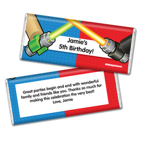 Birthday Space Toys Personalized Chocolate Bar & Wrapper