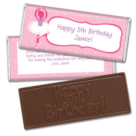 Birthday Ballerina Themed Embossed Happy Birthday Bar