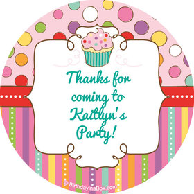 """Sweet Party Personalized 2"""" Stickers (20 Stickers)"""