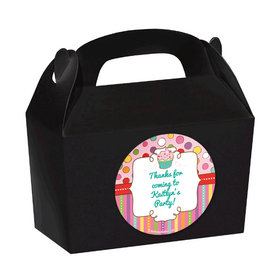 Sweet Party Personalized Favor Boxes (Set of 24)