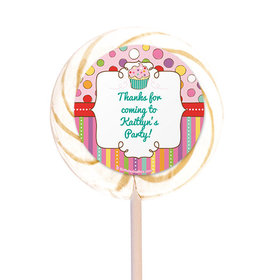 """Sweet Party Personalized 3"""" Lollipops (12 Pack)"""