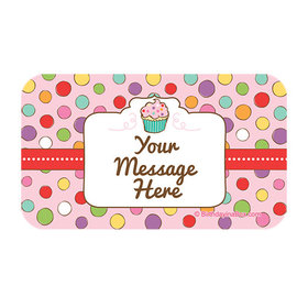Sweet Party Personalized Rectangular Stickers (18 Stickers)