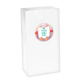 Sweet Party Personalized Paper Favor Bags (set of 12)
