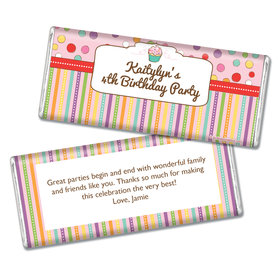 Birthday Sweet Stuff Personalized Chocolate Bar & Wrapper