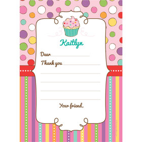 Sweet Party Personalized Thank You Note
