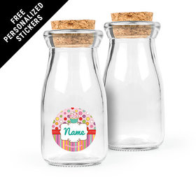 Sweet Party Personalized Glass Bottle with Cork (24 pack)