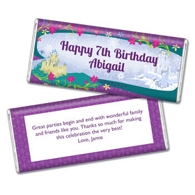 Birthday Frozen Themed Personalized Chocolate Bar & Wrapper