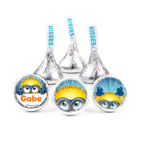 """Birthday 3/4"""" Sticker Despicable Me Themed Personalized Stickers (108 Stickers)"""