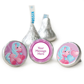 Birthday Pony Personalized Assembled Kisses (50 Pack)