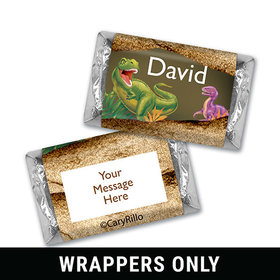 Dinosaur Roar Personalized Miniature Wrappers