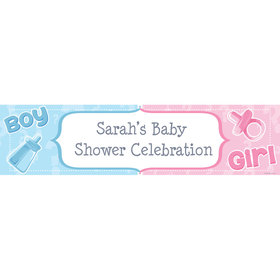 Personalized Gender Reveal Banner