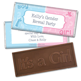 Pick a Side Gender Reveal Personalized Hershey's Chocolate Bar Wrappers