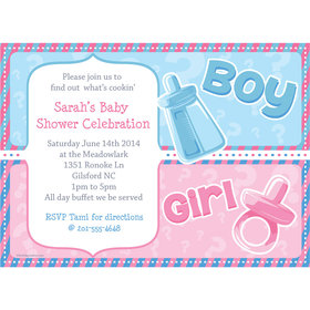 Gender Reveal Personalized Invitation