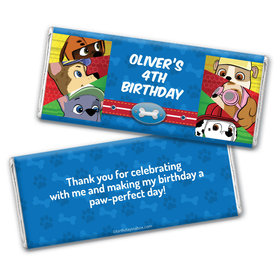 Personalized Birthday Paw Command Chocolate Bar Wrappers Only