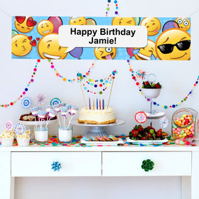 Personalized Emojis 5 Ft. Banner