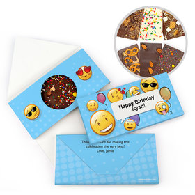 Personalized Emoji Birthday Gourmet Infused Belgian Chocolate Bars (3.5oz)