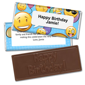Birthday Emoji Themed Embossed Happy Birthday Bar