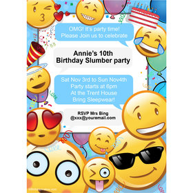 Emojis Personalized Invitation