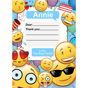 Emojis Personalized Thank You Note